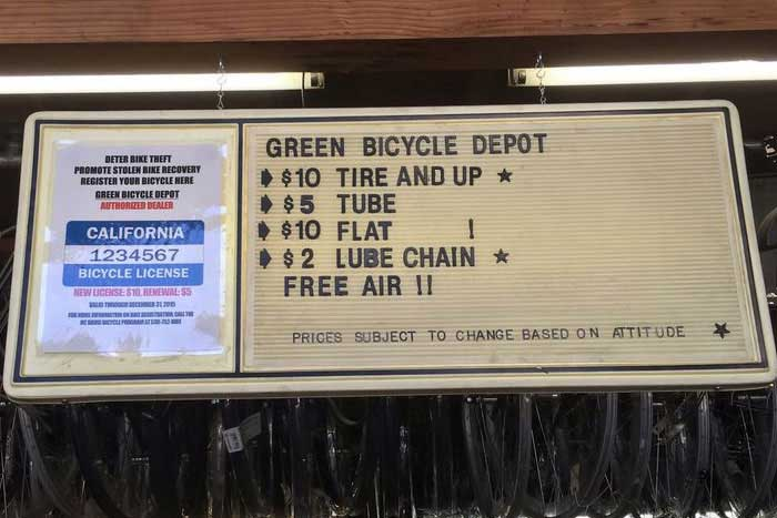 Bicycle Parts and Labor